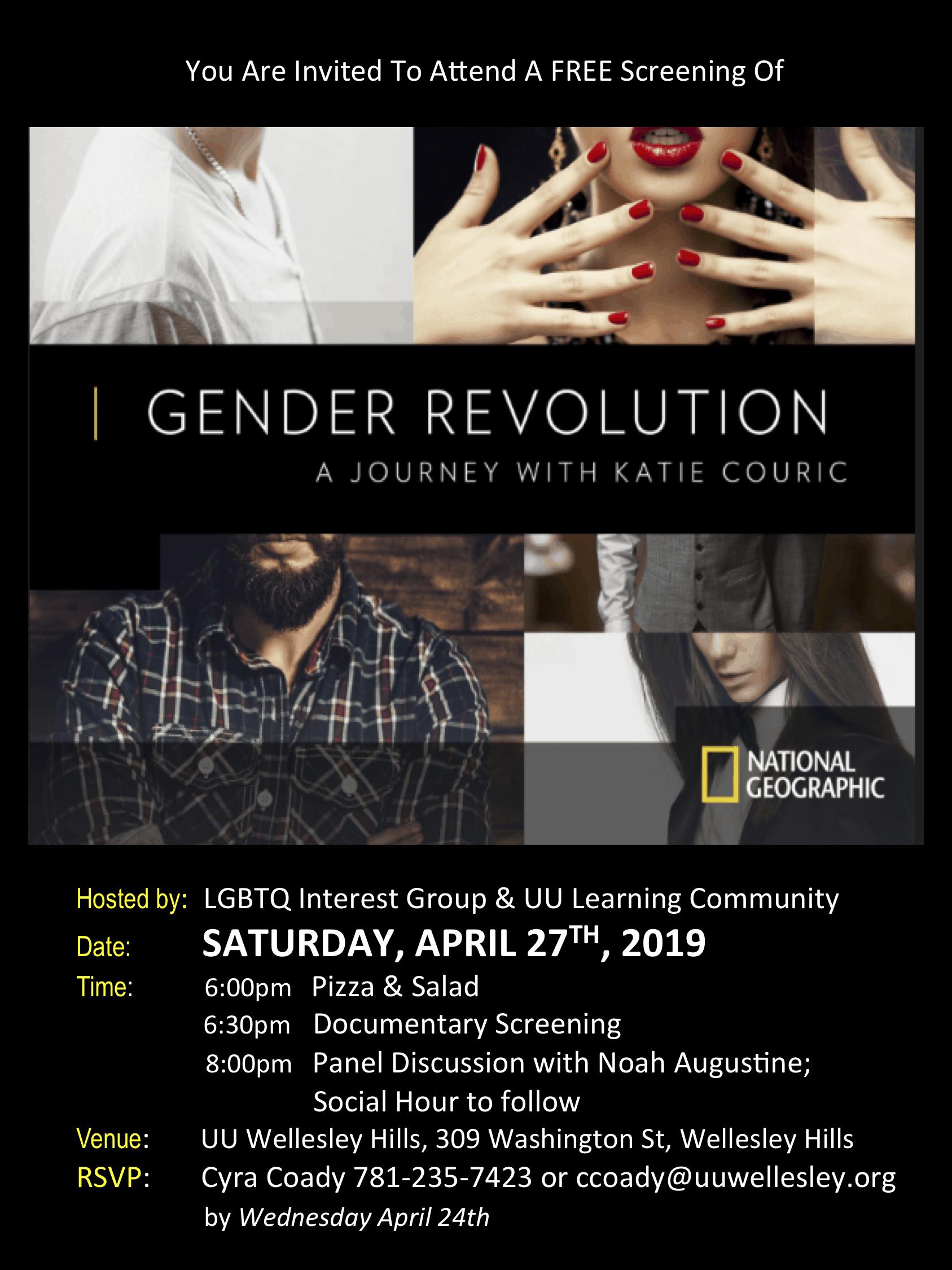 """""""Gender Revolution"""" Movie Screening and Trans Speaker"""