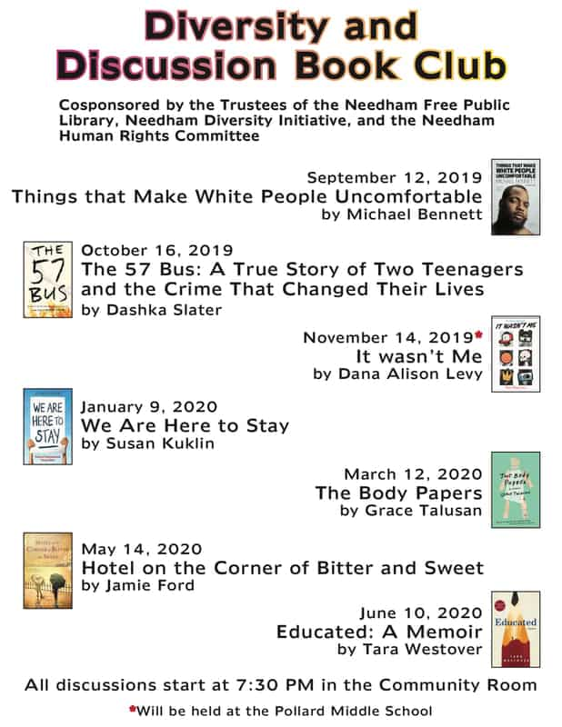 Needham Diversity Book Club 2019-2020
