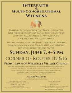 Interfaith Witness June 7