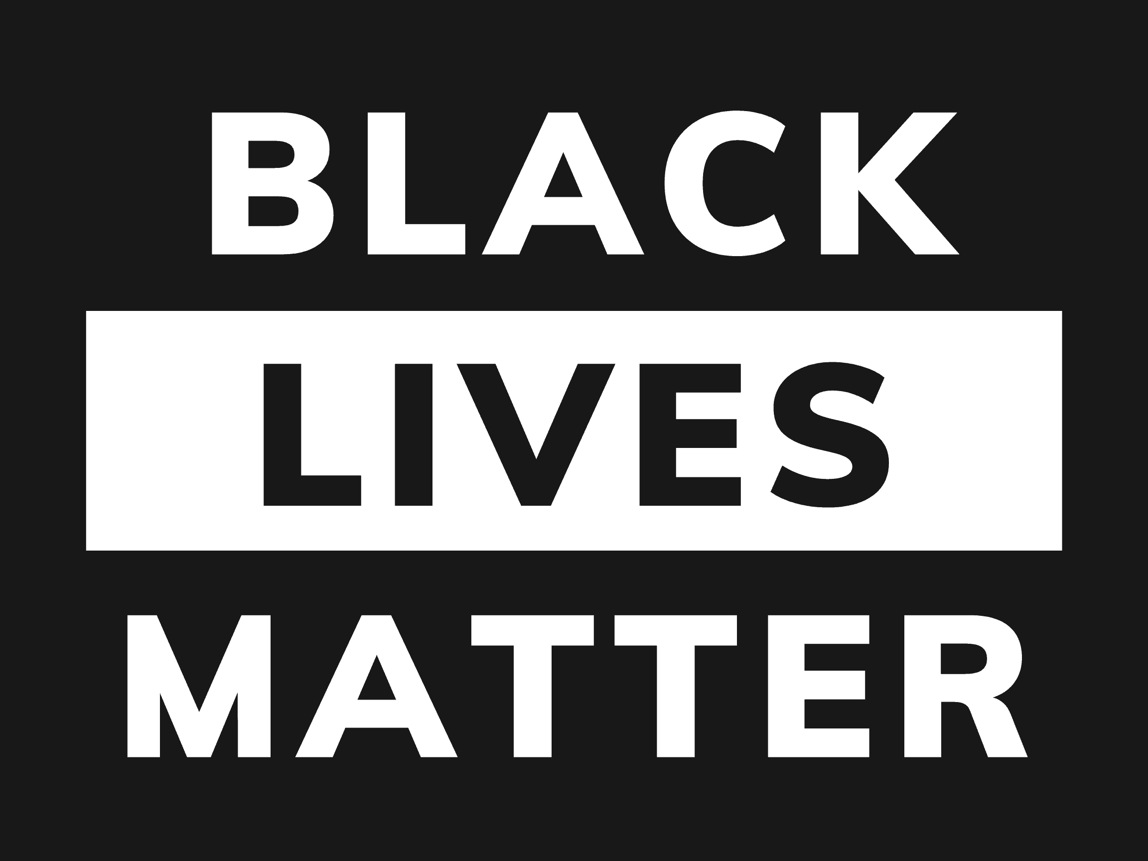 BLACK LIVES MATTER yard sign