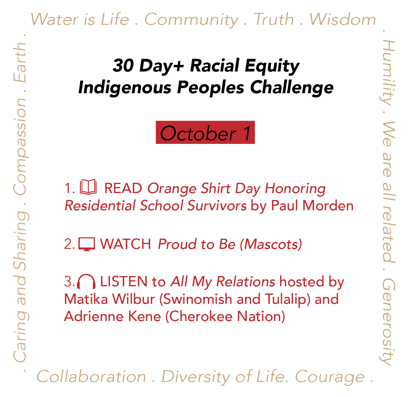 Day 1: Racial Equity Indigenous Peoples Day Challenge
