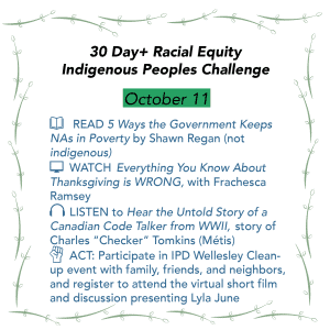 Day 11: Racial Equity Indigenous Peoples Day Challenge