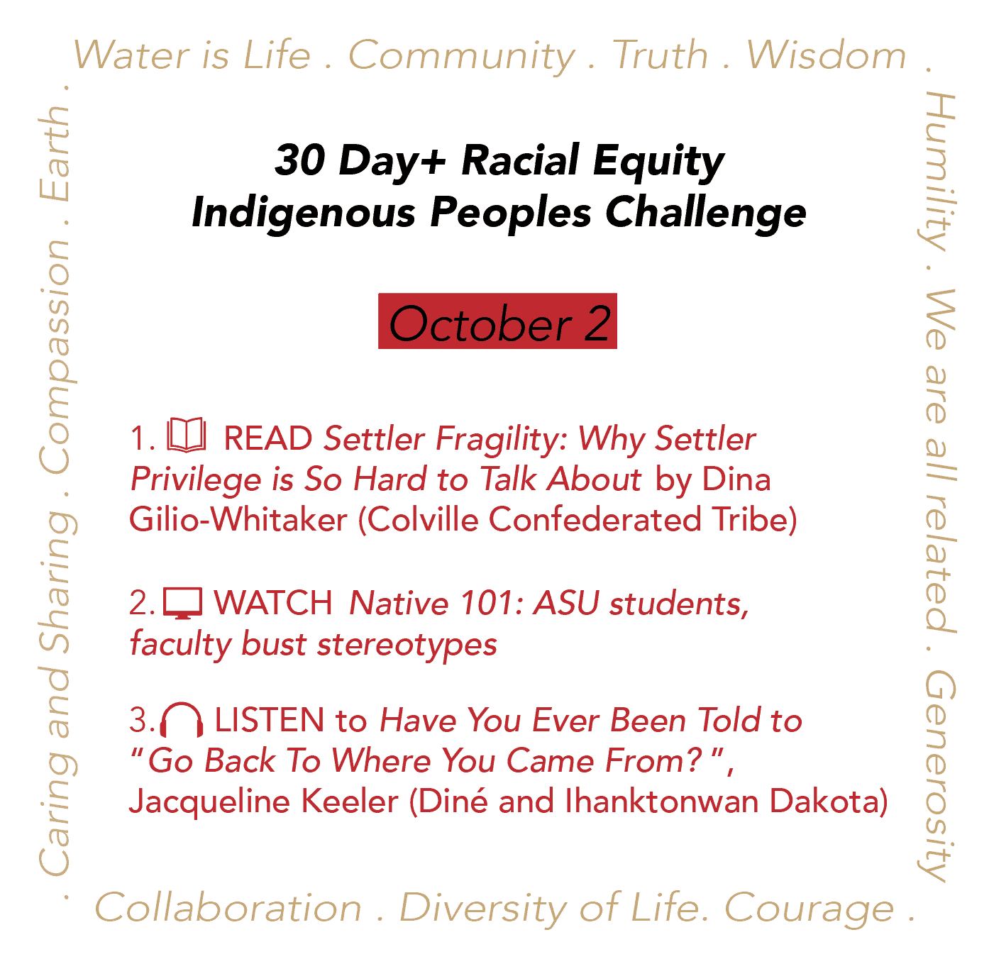 Day 2: Racial Equity Indigenous Peoples Day Challenge