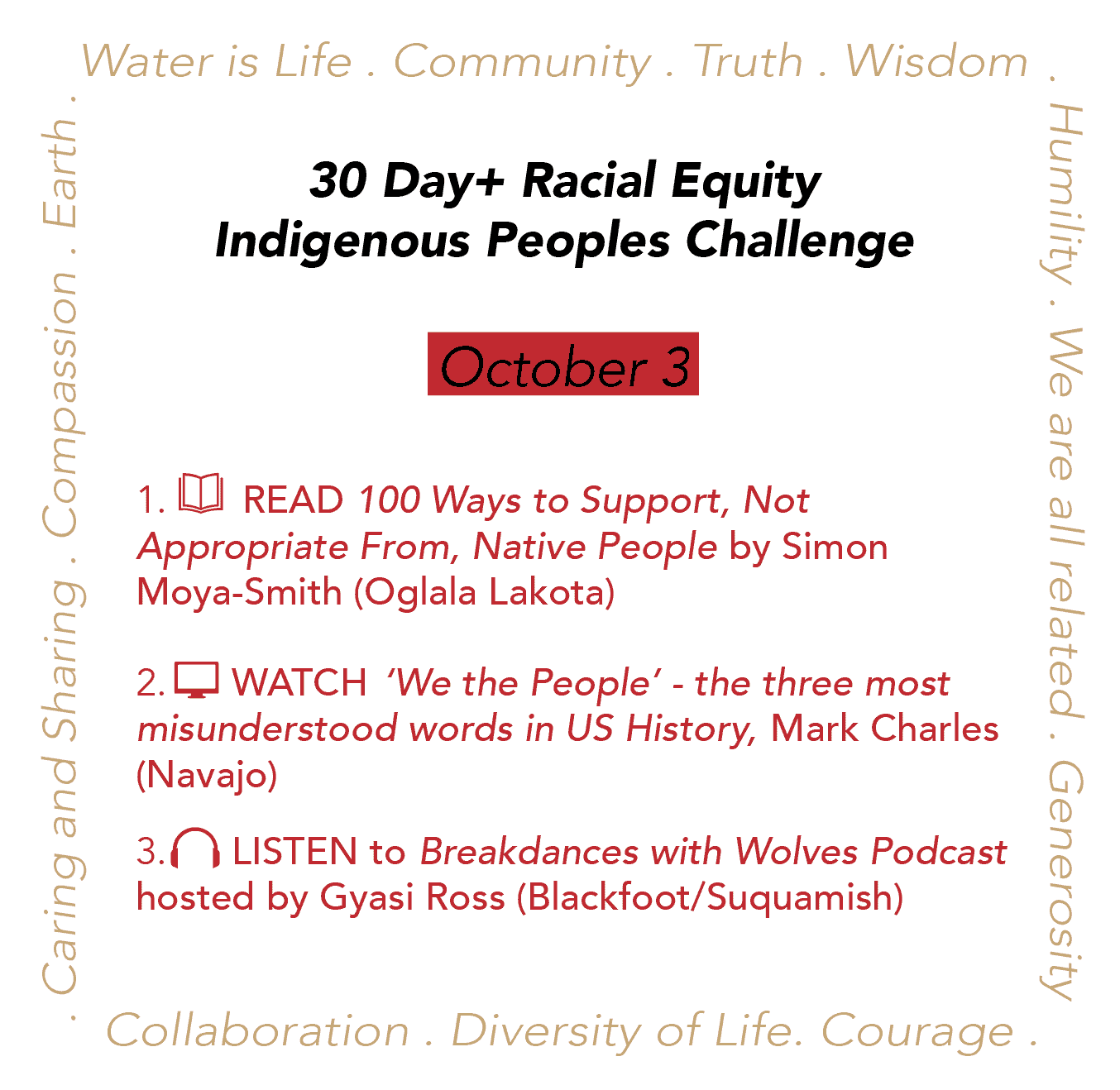 Day 3: Racial Equity Indigenous Peoples Day Challenge