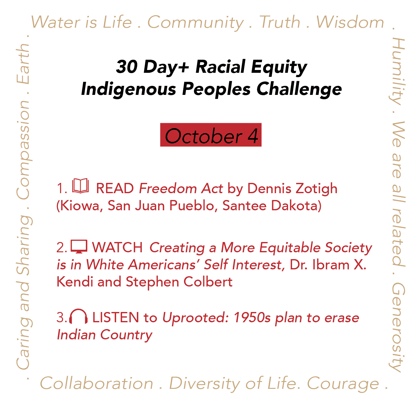 Day 4: Racial Equity Indigenous Peoples Day Challenge