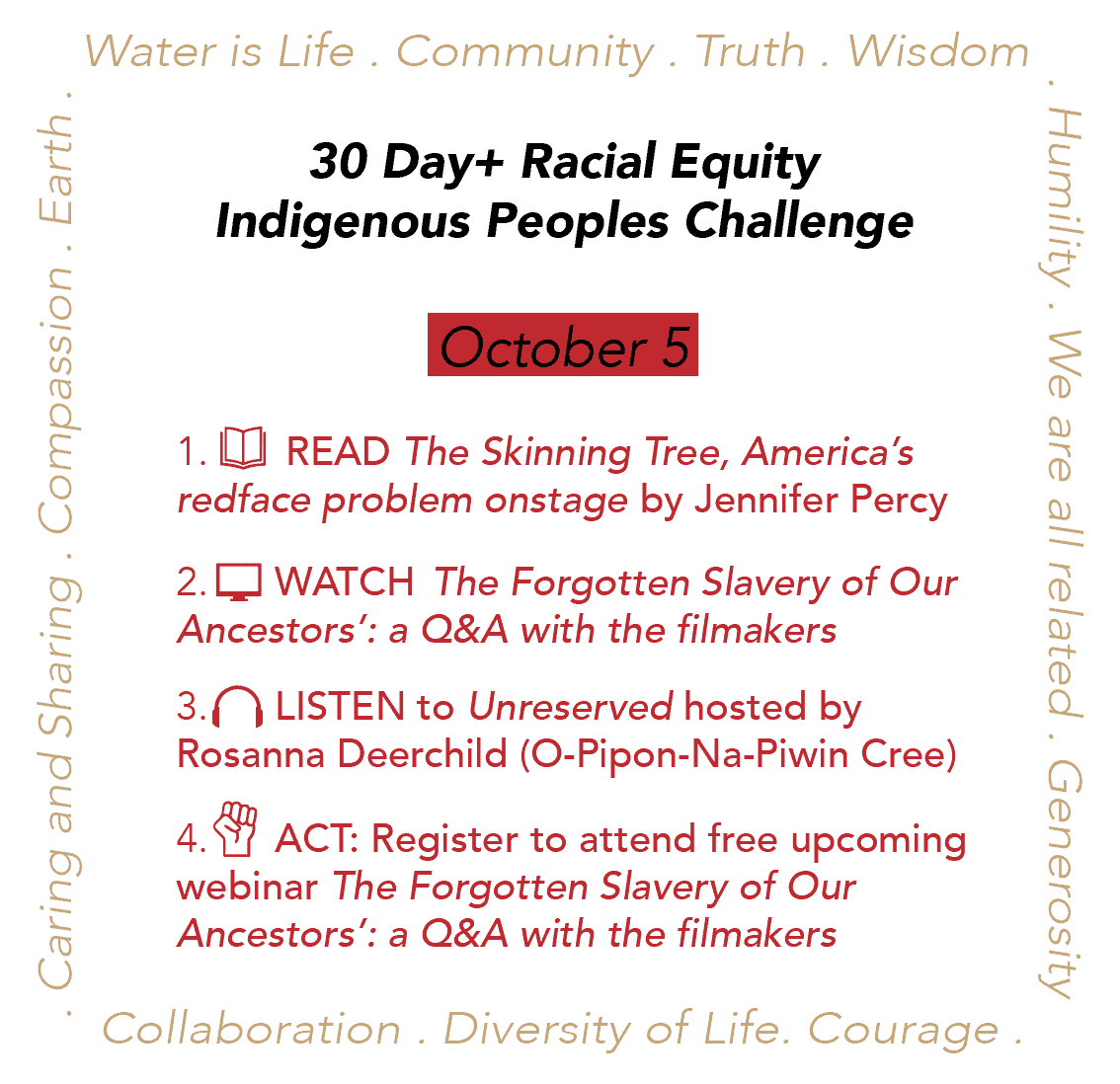 Day 5: Racial Equity Indigenous Peoples Day Challenge