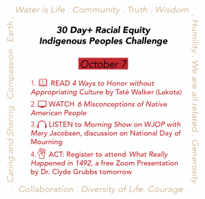 Day 7: Racial Equity Indigenous Peoples Day Challenge